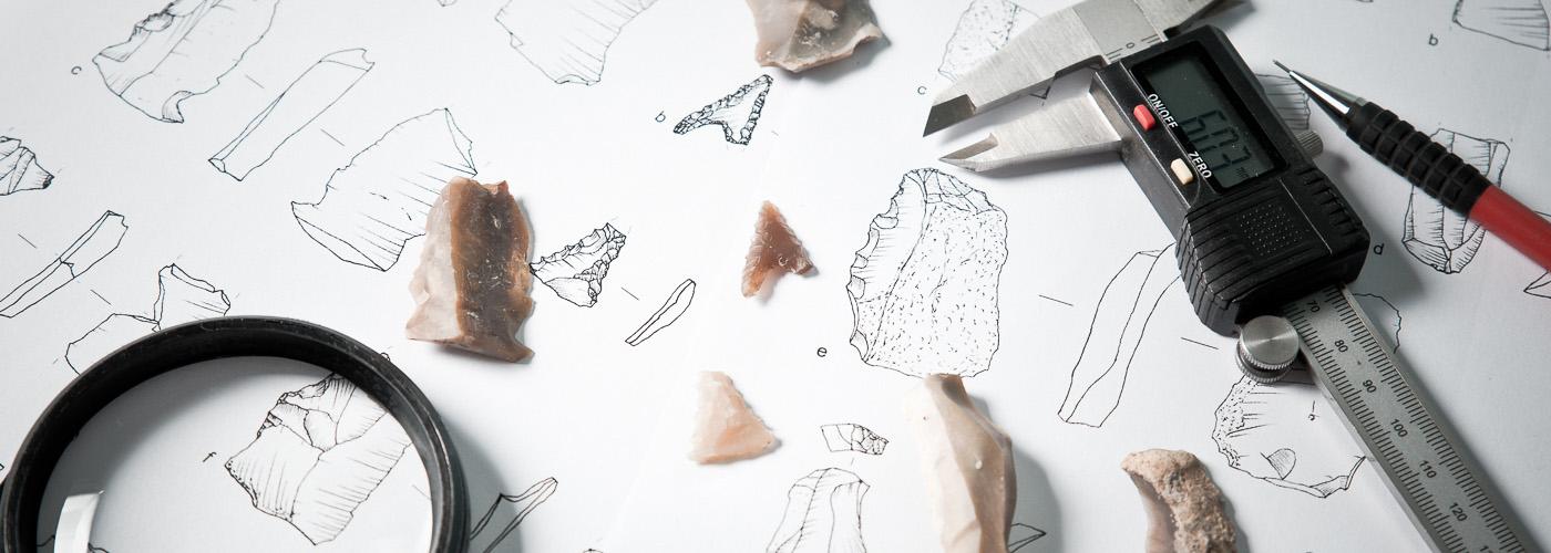 Analizy artefaktów krzemiennych